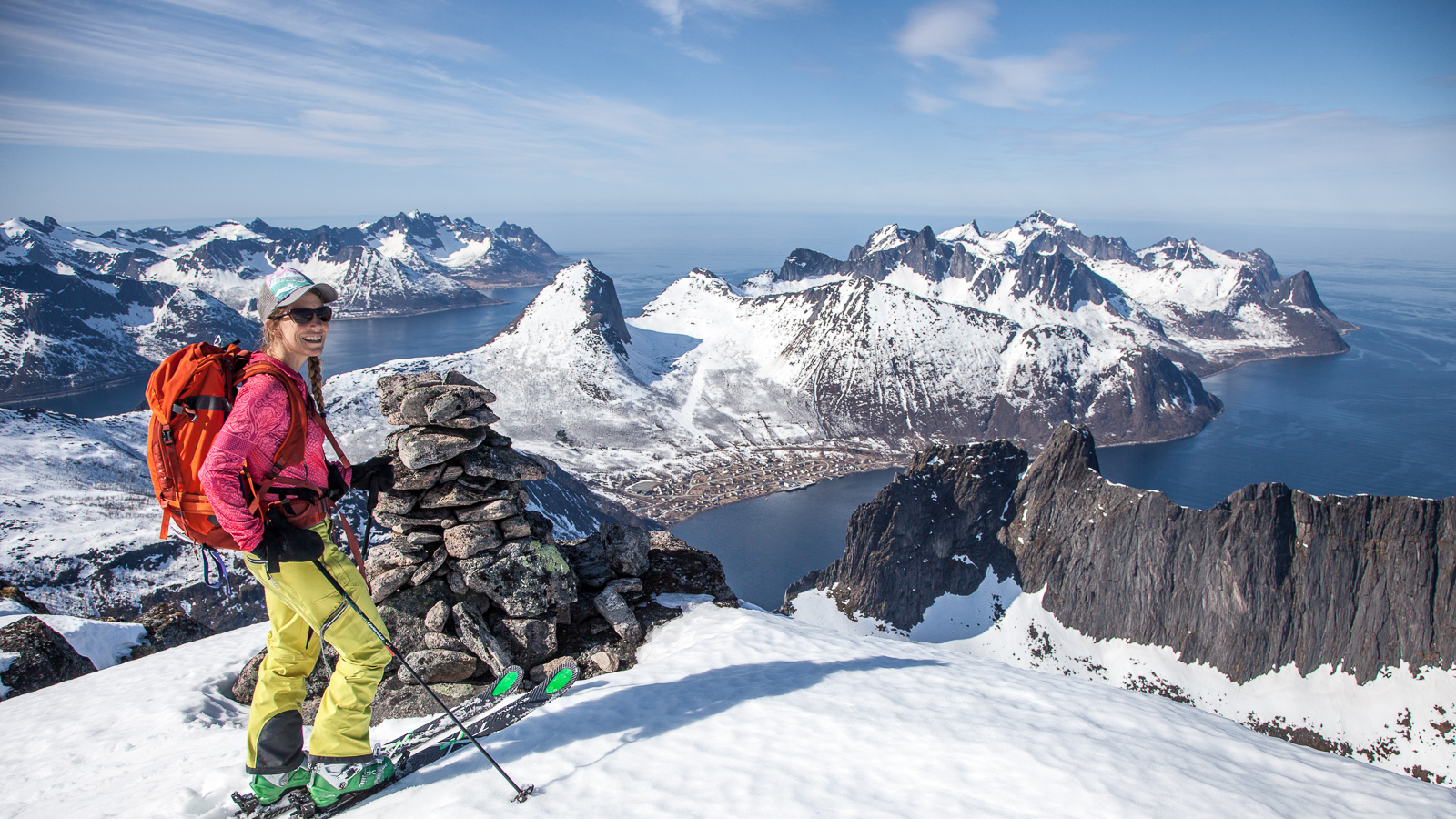 Christy Mahon skiing in Norway